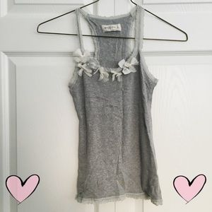 <donated> Abercrombie lace bow tank